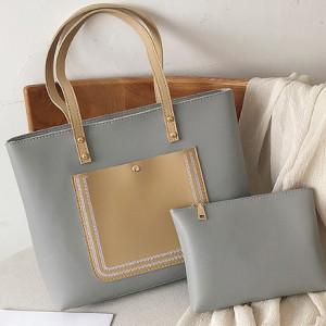 Комплект сумок из 2 предметов арт А381,цвет:серый