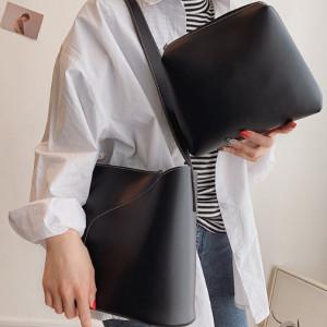 Комплект сумок из 2 предметов арт А382,цвет:черный