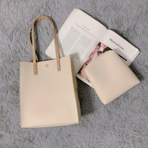 Комплект сумок из 2 предметов арт А383,цвет:бежевый