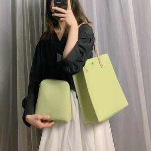 Комплект сумок из 2 предметов арт А383,цвет:зеленый