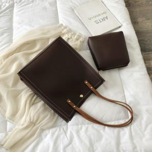 Комплект сумок из 2 предметов арт А383,цвет:коричневый