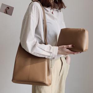 Комплект сумок из 2 предметов арт А386,цвет:коричневый