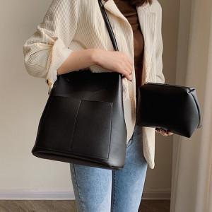 Комплект сумок из 2 предметов арт А386,цвет:черный