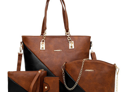Комплект сумок из 4 предметов арт А394,цвет:коричневый
