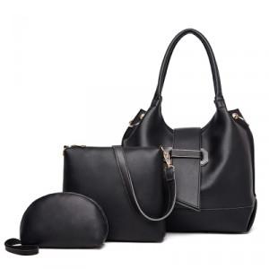Комплект сумок из 3 предметов арт А401,цвет:черный