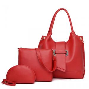 Комплект сумок из 3 предметов арт А401,цвет:красный