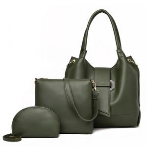 Комплект сумок из 3 предметов арт А401,цвет:зеленый