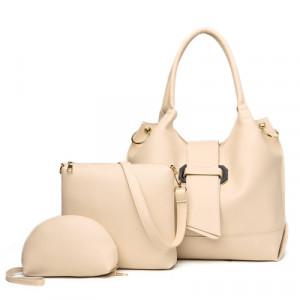 Комплект сумок из 3 предметов арт А401, цвет:белый рис