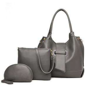 Комплект сумок из 3 предметов арт А401,цвет:серый