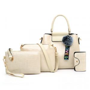 Комплект сумок из 4 предметов арт А407,цвет:белый рис