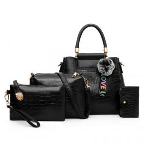 Комплект сумок из 4 предметов арт А407,цвет:черный
