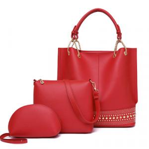 Комплект сумок из 3 предметов арт А408,цвет:красный