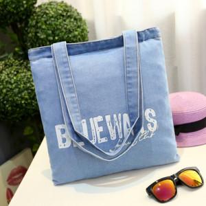 Сумка женская арт Б811, цвет:голубые буквы BL