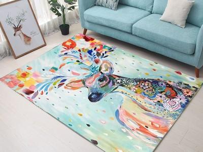 Ковер арт КВ13, цвет: акварельный лось