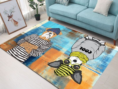 Ковер арт КВ13, цвет: холодная собака