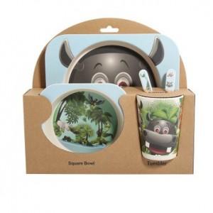 Набор детской посуды из 5 предметов арт НД3, цвет:Лесное царство