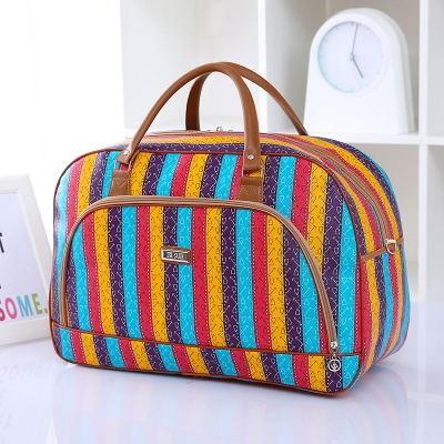 Дорожная сумка арт 0758 Цветные полосы