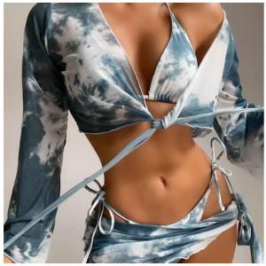 Набор дорожных сумок арт 0761 розово-красный