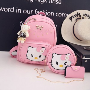 Набор рюкзак из 3 предметов арт Р322 розовый
